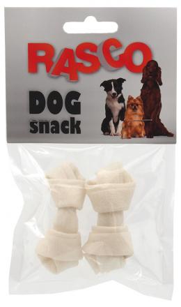 Gardums suņiem - Rasco Buffalo/balts mezgls 6,25 cm, 2 gab.