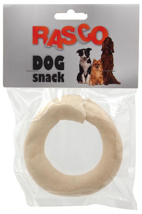 Лакомство для собак - Rasco Buffalo white ring, 8.9cm, 1шт