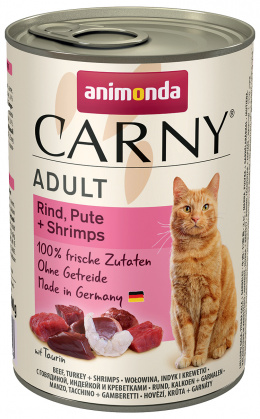 Консервы для кошек - Carny Adult, с говядиной, индейкой, креветками, 400 г