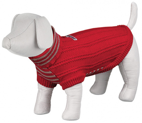 Džempers suņiem - Piave Pullover, XS, 21cm, sarkana