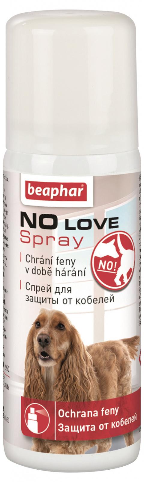 Аэрозоль для самок во время течки - Beaphar No Love Spray for Dogs, 50 мл  title=