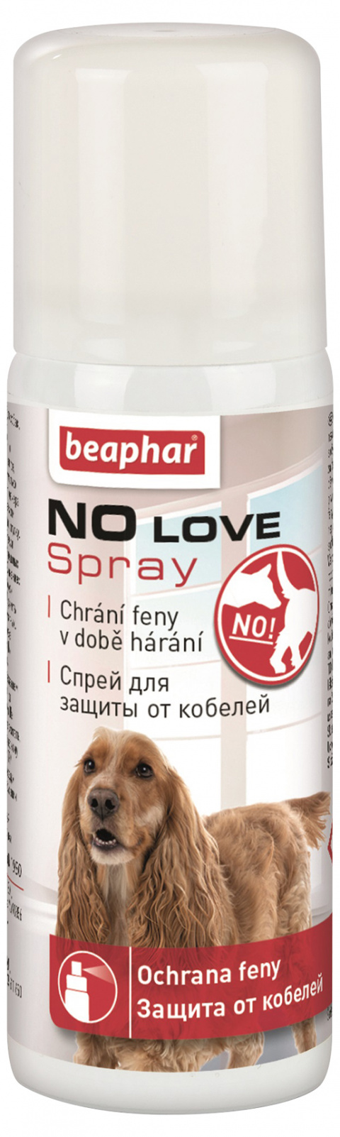 Аэрозоль - для сук во время течки NO LOVE title=