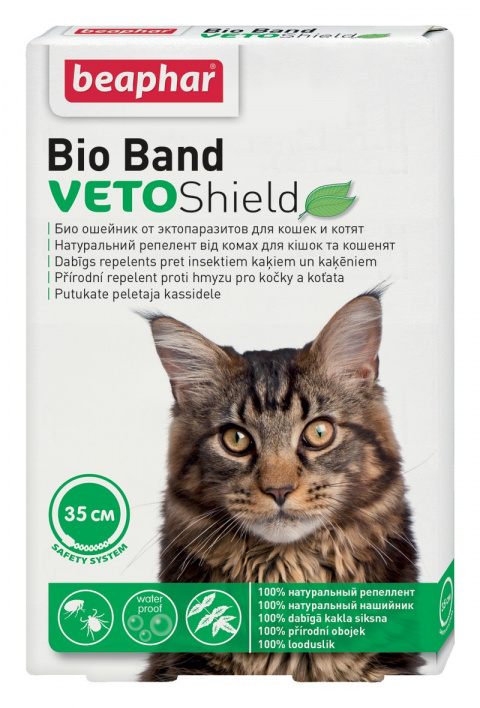Pretblusu siksna kaķiem - Beaphar Bio-Band Cat, 35 cm title=