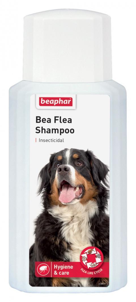 Препарат против блох, клещей для собак - шампунь Beaphar, Bea Flea Shampoo 200 мл, безрецептурный препарат, reģ. NR - VA - 072463/3