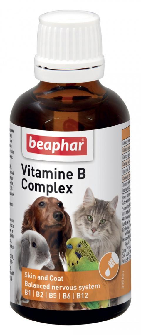 Barības piedeva - Beaphar Vitamin B-complex, 50 ml
