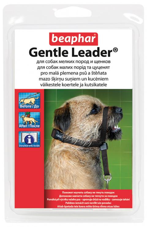 Коррекционный ошейник для собак - Gentle leader for small dog, черный