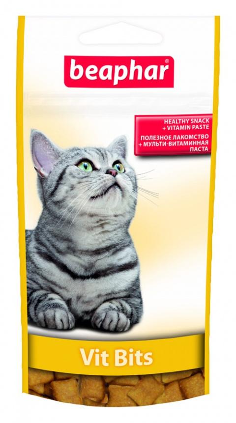 Gardums kaķiem - Beaphar Vit-Bits, ar vitamīnu pastu, 35 g