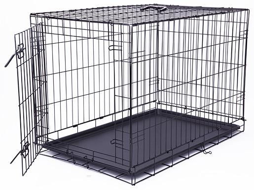 Bokss suņiem - Dog Fantasy Folding Dog Crate, 91.5*63.5*58.5 cm