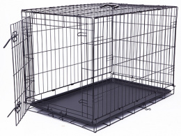 Bokss suņiem - Dog Fantasy Folding Dog Crate, 91.5*63.5*58.5 cm