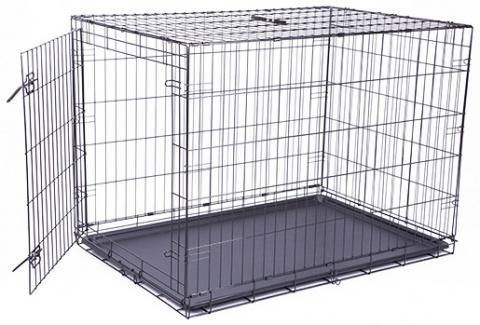 Bokss suņiem -  Dog Fantasy Folding Dog Crate, 106.5*76*71 cm title=