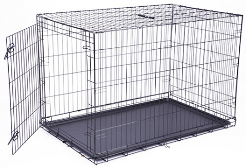 Bokss suņiem – Dog Fantasy Folding Dog Crate, 122 x 84 x 76 cm title=