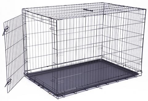 Клетка для собак - Dog Fantasy Folding Dog Crate, 122*84*76 см