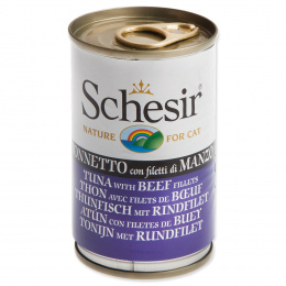 Konservi kaķiem - SCHESIR Cat Tuna and Beef, 140 g