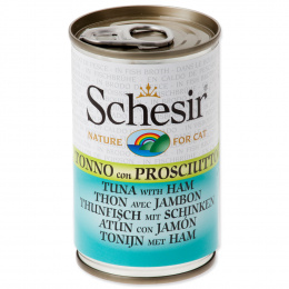 Konservi kaķiem - SCHESIR Cat Tuna and Ham, 140 g