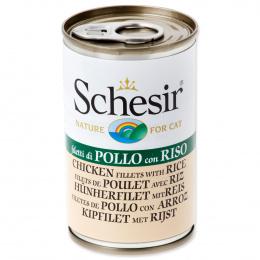 Konservi kaķiem - SCHESIR Cat Chicken and Rice in Jelly, 140 g