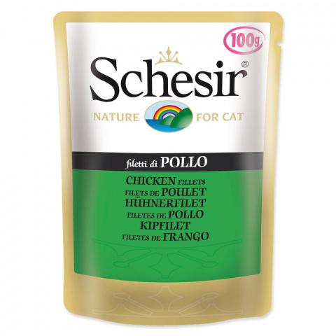 Konservi kaķiem - SCHESIR Cat Pouch Chicken, 100 g title=