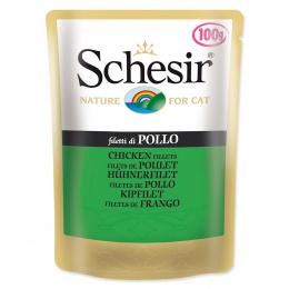 Konservi kaķiem - SCHESIR Cat Pouch Chicken, 100 g