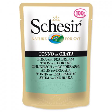 Консервы для кошек - SCHESIR Cat Pouch Tuna and Sea Bream, 100 г title=