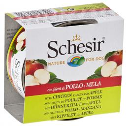 Konservi suņiem - Schesir Dog Fruit Canned,  ar vistu un āboliem, 150 g