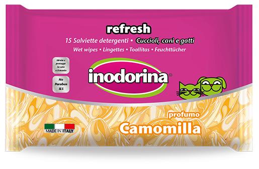 Mitrās salvetes - INODORINA, ar kumelītēm, 15 gb