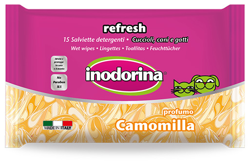 Mitrās salvetes - INODORINA, ar kumelītēm, 40 gb