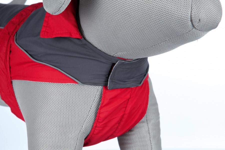 Дождевик для собак - Lorient raincoat, M, 50 cm, красный/серый