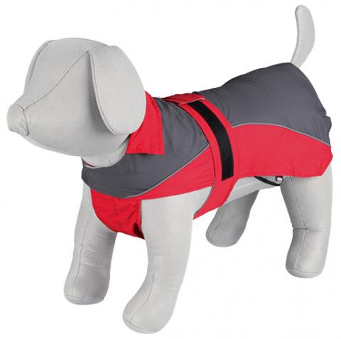 Lietus mētelis suņiem - Trixie, Lorient rain coat, XL, 70 cm, sarkana/grey title=