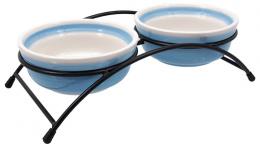 Подставка с мисками – MAGIC CAT, Ceramic Bowl Set with Metal Stand, 2 x 12,5 см
