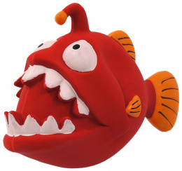 Rotaļlieta suņiem - Dog Fantasy Good's Latex fish with sound, red, 18 cm