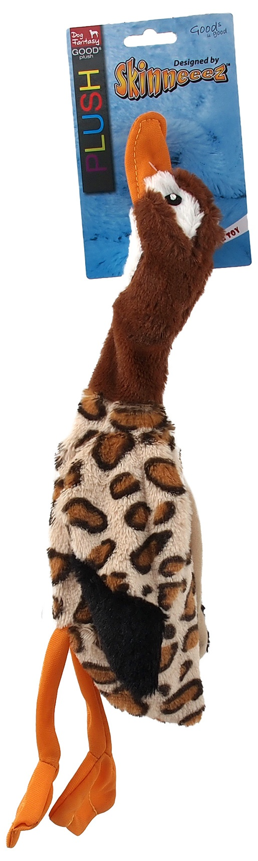 Rotaļlieta suņiem - Dog Fantasy Good's Skinneeez duck, 40 cm