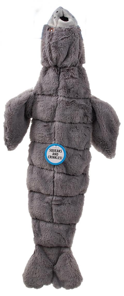 Rotaļlieta suņiem - Dog Fantasy Good's Skinneeez seal with sound / Ar pīkstuļi, 52.5 cm