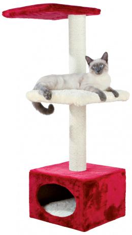 """Mājiņa kaķiem - """"Elena"""" scratching post 109cm, sarkana/bēša krāsa"""