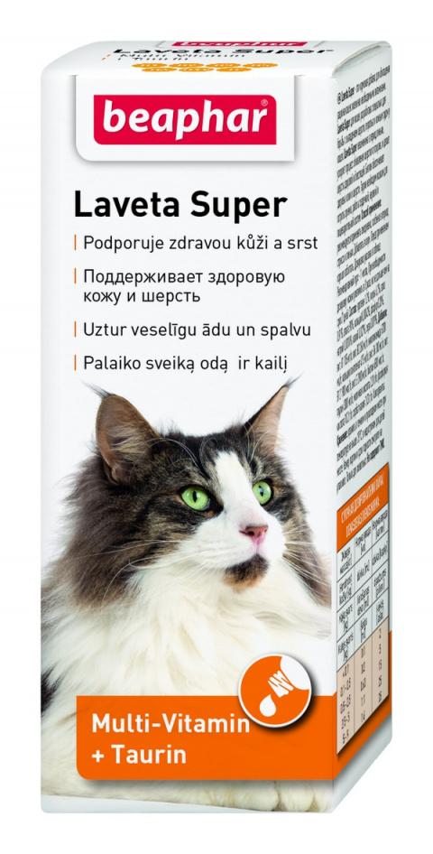 Barības piedeva - Beaphar Laveta Super kaķiem, 50ml