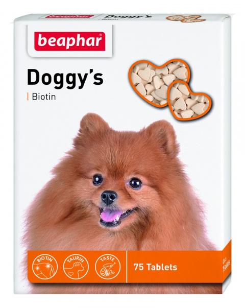 Лакомство для собак - Doggy's Biotin 75 таб. title=