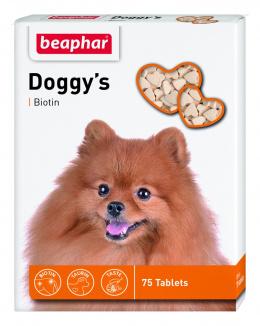 Лакомство для собак - Doggy's Biotin 75 таб.