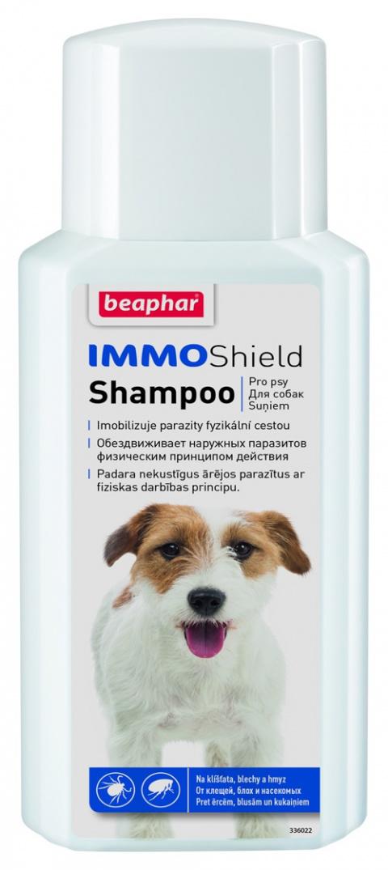 Līdzeklis pret blusām, ērcēm suņiem - Beaphar IMMO Shield Shampoo Dog, 200ml