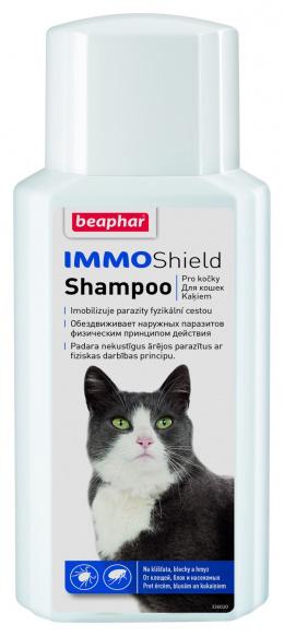 Līdzeklis pret blusām, ērcēm kaķiem - Beaphar IMMO Shield Shampoo Cat, 200 ml