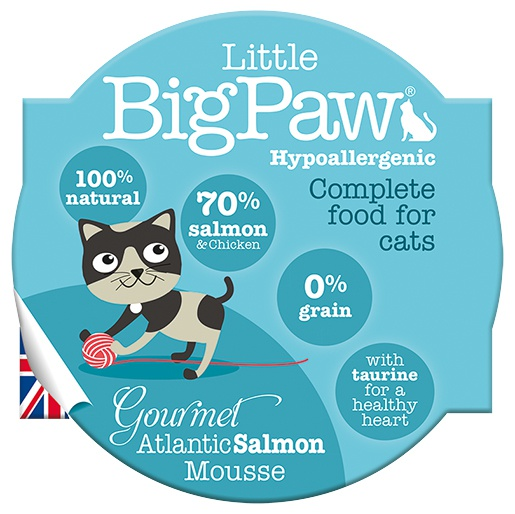 Konservi kaķiem - Little Big Paw Gourmet Atlantic Salmon Mousse 85g