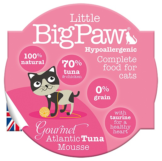 Konservi kaķiem - Little Big Paw Gourmet Atlantic Tuna Mousse 85g