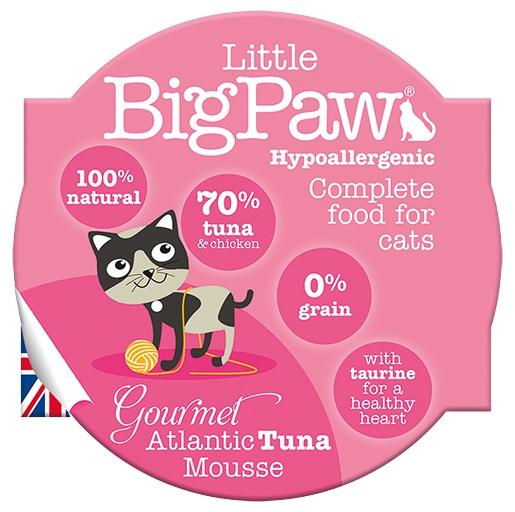 Консервы для кошек - Little Big Paw Gourmet Atlantic Tuna Mousse 85гр