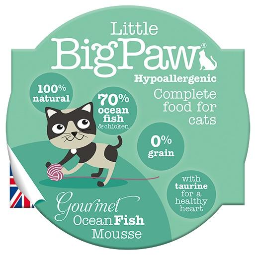 Консервы для кошек - Little Big Paw Gourmet Ocean Fish Mousse 85гр.