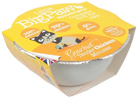 Konservi kaķiem - Little Big Paw Gourmet Tender Chicken Mousse 85g. title=