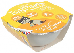 Konservi kaķiem - Little Big Paw Gourmet Tender Chicken Mousse 85g.