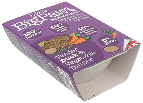 Konservi suņiem - Little Big Paw Tender Duck & Vegetable Dinner, 150g title=