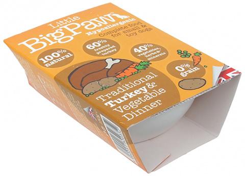 Konservi suņiem - Little Big Paw Traditional Turkey & Vegetable Dinner, 150g title=