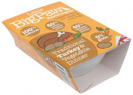 Консервы для собак - Little Big Paw Traditional Turkey & Vegetable Dinner, 150гр.