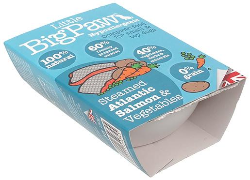 Konservi suņiem - Little Big Paw Steamed Atlantic Salmon & Vegetable Dinner, 150g