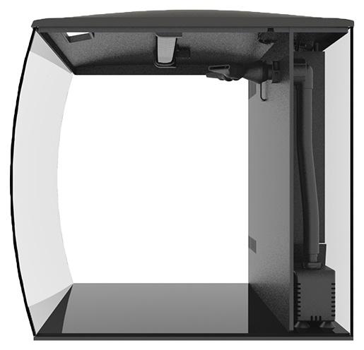 Аквариум с LED освещением - Fluval Flex, 57 l, цвет - черный