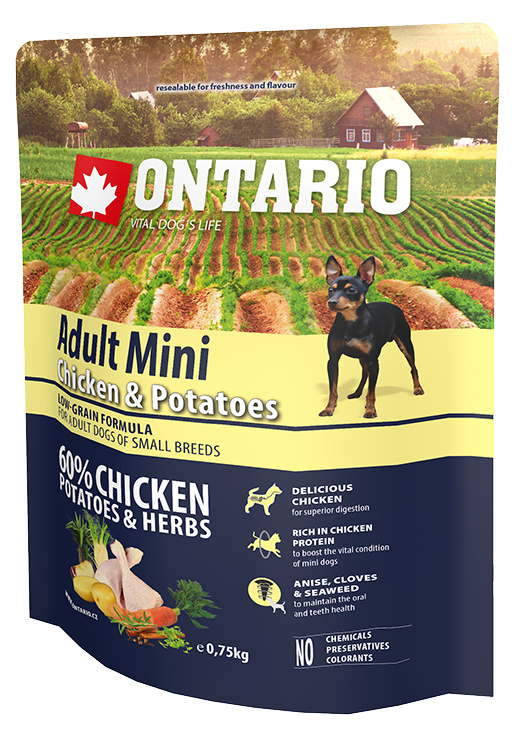 Ontario Adult Mini Chicken & Potatoes 0,75kg