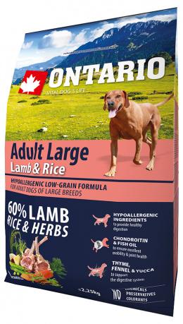 Корм для собак - ONTARIO Adult Large Lamb&Rice; 2.25кг